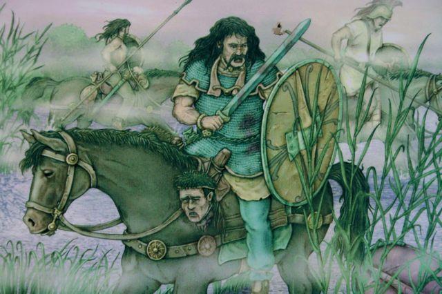 Gaulish cavalry fightng at Trasimeno