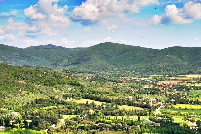 A View From Route Of The Cortona Walk
