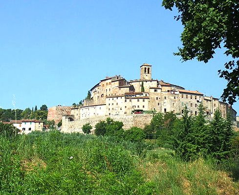 The Town of Anghiari in Tuscany
