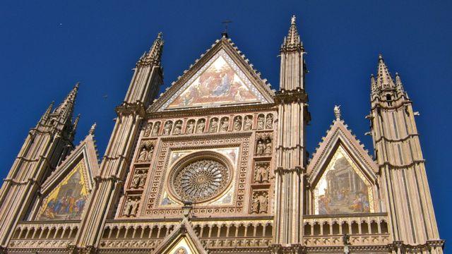 The magnificent facade of Orvieto's Duomo