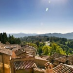 Rooftops in Montone and the Upper Tiber Valley