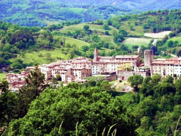 The town of Pietralunga in Umbria, Italy
