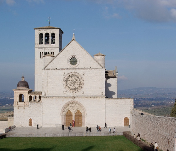The Basilica of Saint Francis in Assisi, Umbria