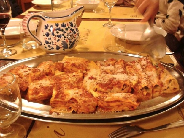 The lasagna at Trattoria Mimmi