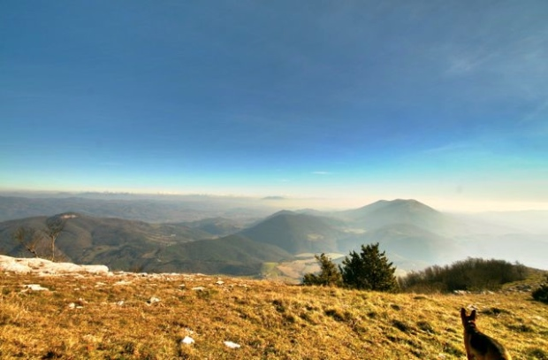The view from Monte Acuto towards Monte Tezio