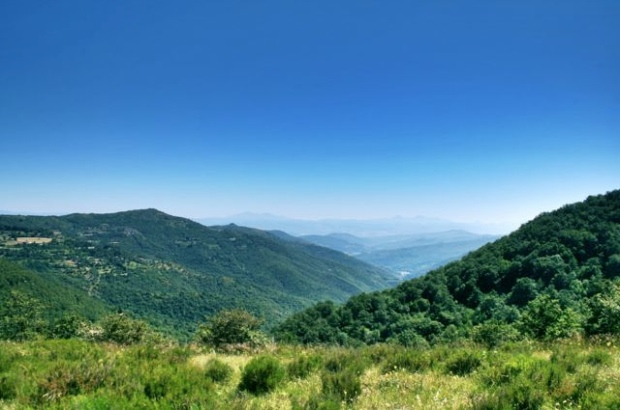 A view on the Monte Ginezzo walk near Cortona, Tuscany