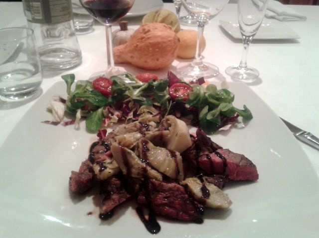 Tagliata at I Girasoli di Sant'Andrea Restaurant