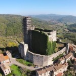 Rocca di Pierle seen from above