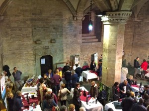 Wine tasting on the ground floor of Citta di Castello town hall