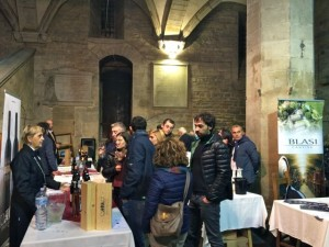 Stalls at the wine tasting event, Coitta di Castello Truffle Festival