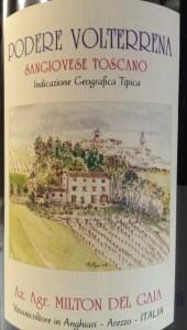 Podere Volterrana, Sangiovese IGT, wine from Anghiari, Tuscany