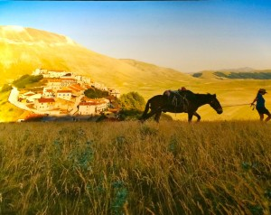 The village of Castelluccio and the Piano Grande in Umbria photographed by Steve McCurry