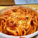 Bringoli, a thick hand made spaghetti type pasta