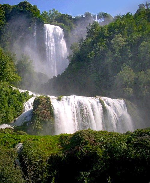 The Cascate delle Marmore waterfalls in Umbria