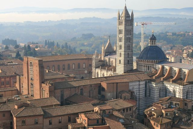 The Duomo viewed from the Torre del Mangia, Siena, Tuscany