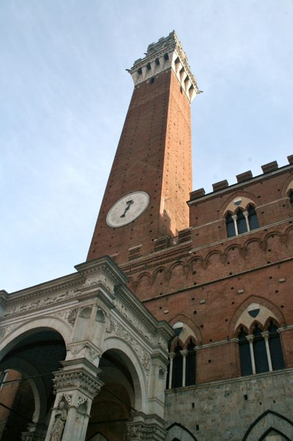 The Torre del Mangia in Siena, Tuscany