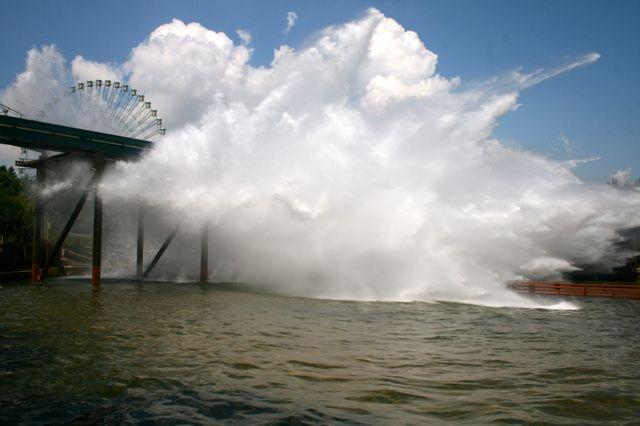 Giant water slide at Mirabilandia