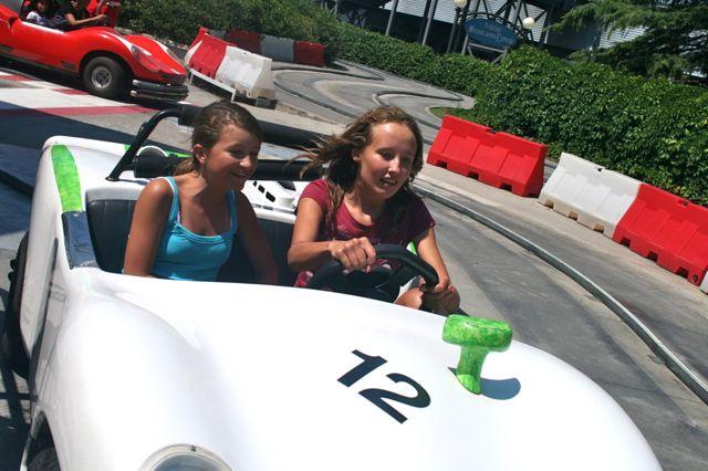 Car racing at Mirabilandia