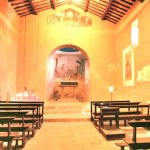 Inside the church of the Annunciation in Fontignano, Umbria