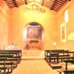 Inside the church of the Annunciation in Fontignano, Umbria