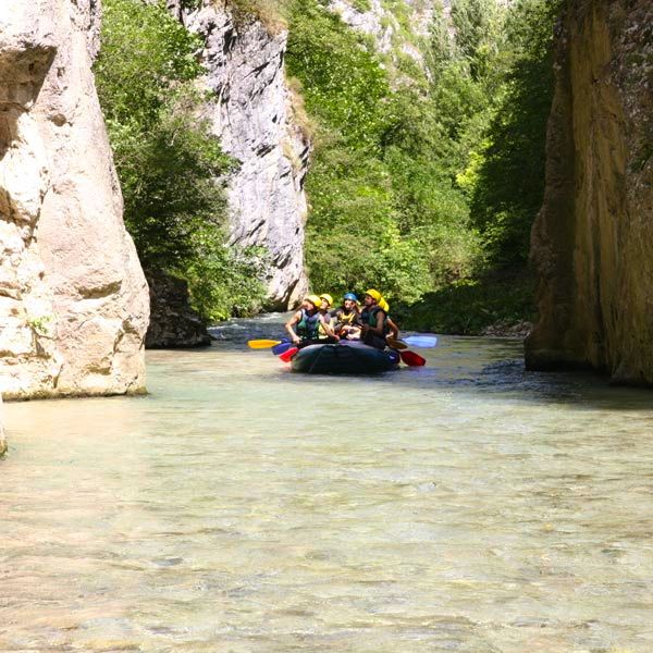 Rafting on the River Corno in Umbria