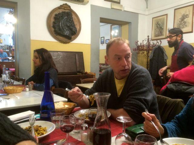 Dining at Trattoria Gozzi, San Lorenzo, Florence