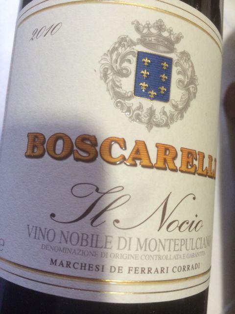 """Wine Label Boscarelli """"il Nocio"""" Vino Nobile di Montepulciano"""