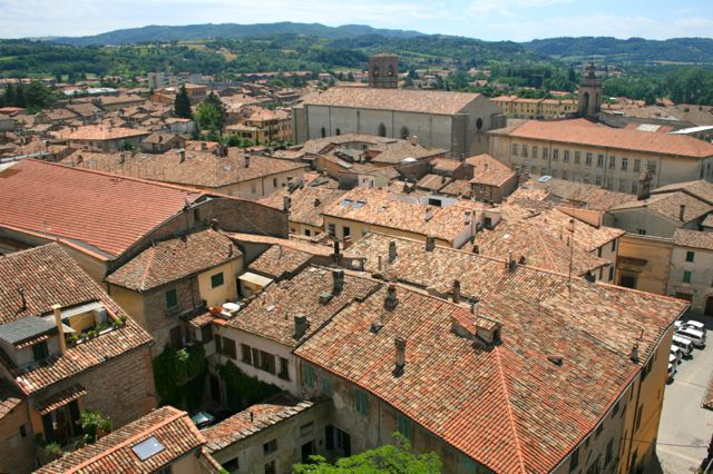 The view from the Circular Bell Tower, Citta di Castello