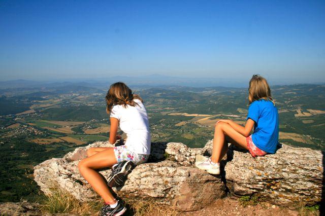 A view from Monte Tezio