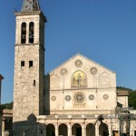 The facade of Spoleto Duomo in Umbria. Italy