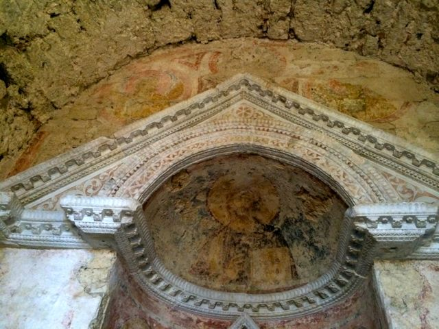 8th Century frescoes in the Tempietto del Clitunno