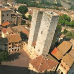 Medieval towers in San Gimignano, Tuscany