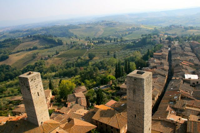 A view from one of the towers in San Gimignano