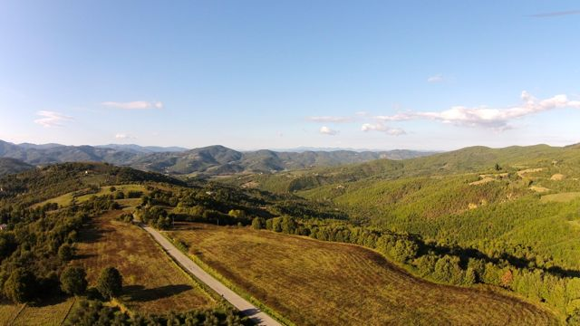 A view of the hills around Preggio