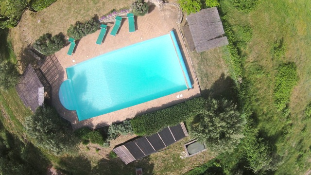 Casa del Lupo swimming pool viewed from above