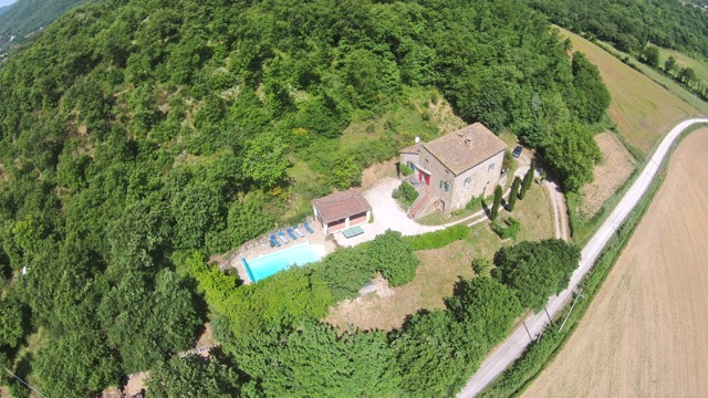 Casa Gorgacce viewed from above