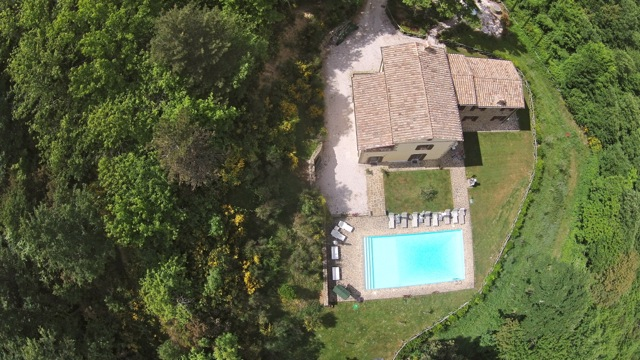 Looking down on Villa Forconi