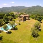 Casa degli Ulivi and the hills of the Niccone Valley
