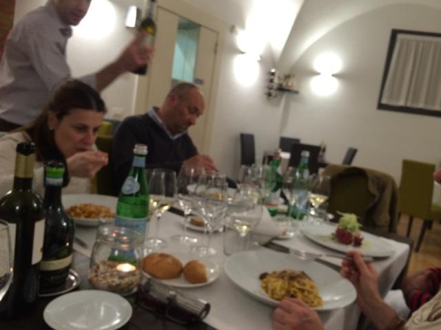 Inside La Logge restaurant in Citta di Castello