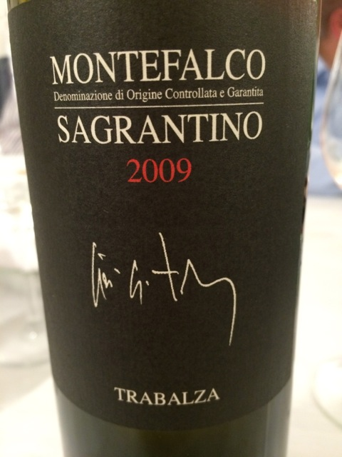 A delicious Sagrantino di Montefalco from the Trabalza winery in Umbria