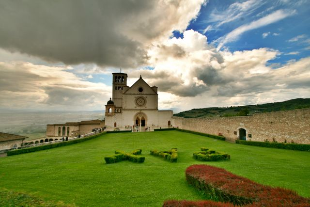 The Basilica of St Francis in Assisi, Umbria