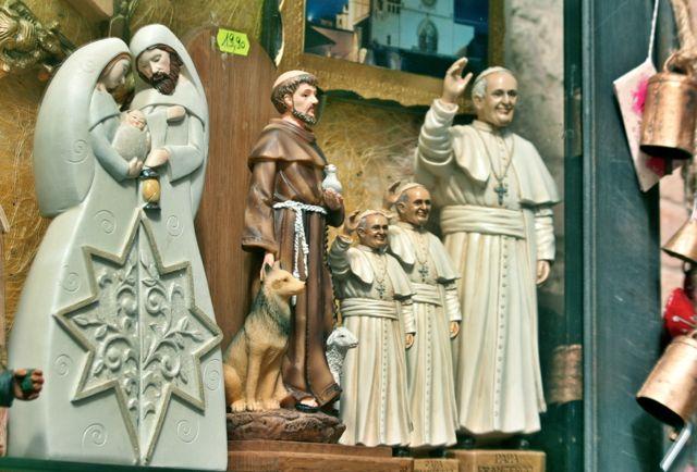 Pope Francis souvenirs, Assisi, Umbria