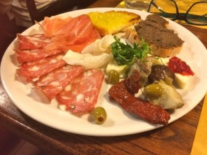 Antipasti at L'Osteria in Siena