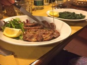Tagliata made with Cinta Senese pork, L'Osteria, Siena