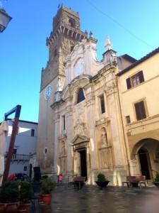 A church in Pitigliano, southern Tuscany