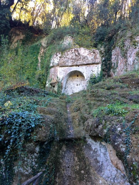 Etruscan tomb in the Parco archeologico, Sovana, Tuscany