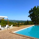 The pool At Casa Cordino Holiday Apartment With Private Pool, Tuscany Umbria Border, Italy