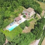 Casa Gorgacce, Villa On The Tuscany Umbria Border, Aerial View