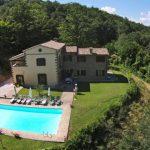 Aerial Photo Of Villa Forconi, Luxury Holiday Home, Tuscany Umbria Border