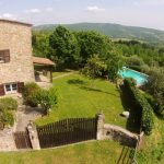 View Across The Pian di Marte, Casa del Lupo, Villa On The Tuscany Umbria Border